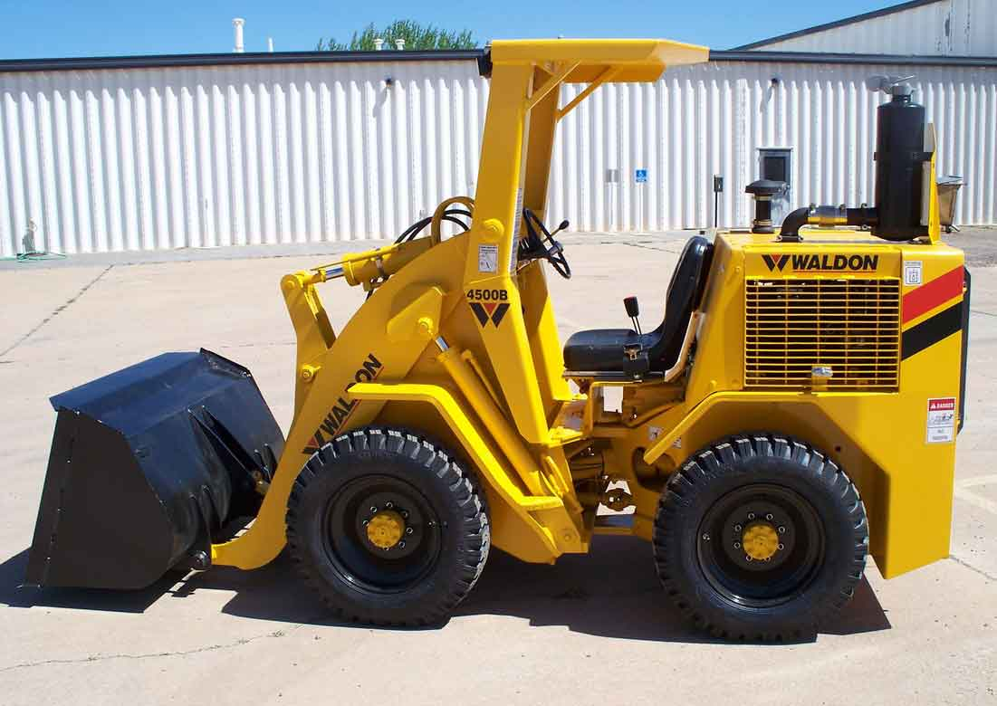 Waldon 4500b loader for MND Equipment banner